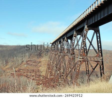 Kinzua Bridge - stock photo