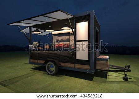 Food kiosk stock images royalty free images vectors for Food truck design software