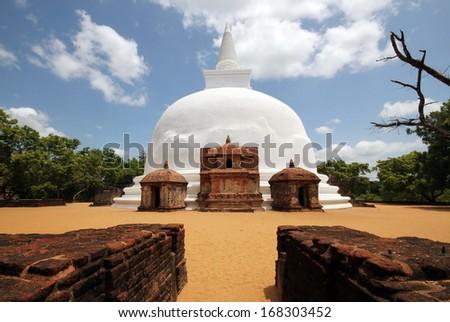Kiri Vihara Stupa, Polonnaruwa, Sri Lanka - stock photo
