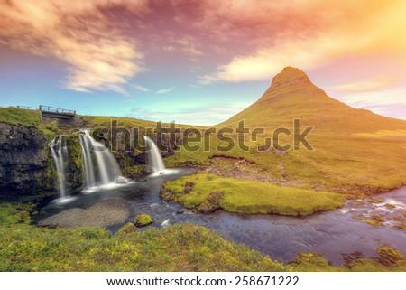 Kirkjufell mountain, Iceland  - stock photo