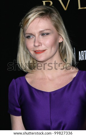 Kirsten Dunst at a Bvlgari Private Event Honoring Simon Fuller And Paul Haggis To Benefit Save The Children And Artists For Peace And Justice, Private Location, Beverly Hills, CA. 01-13-11