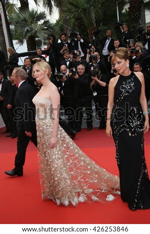Kirsten Dunst, Valeria Golino  attend the Closing Ceremony of the 69th annual Cannes Film Festival at the Palais des Festivals on May 22, 2016 in Cannes, France. - stock photo