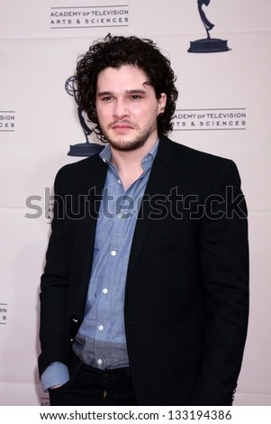 """Kit Harington at """"An Evening with The Game of Thrones"""" hosted by the Academy of Television Arts and Sciences, Chinese Theater, Hollywood, CA 03-19-13 - stock photo"""