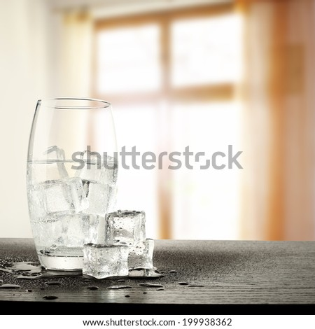 kitchen and cold water  - stock photo