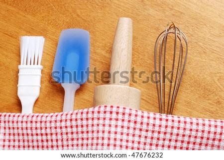 kitchen baking utensils - stock photo