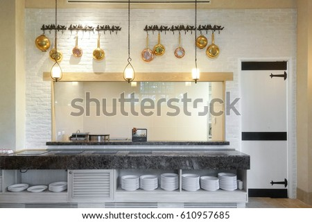 Kitchen Bar In The Restaurant Or Hotels Dining Room Interior Of A