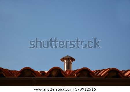 kitchen chimney - stock photo