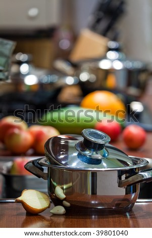 kitchen cooking details - stock photo