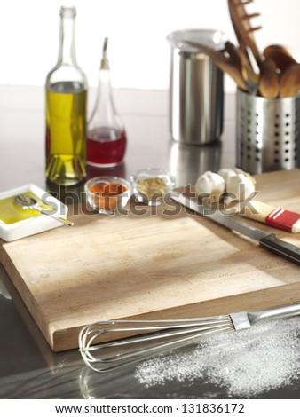 kitchen equipments - stock photo