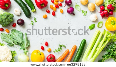 Kitchen Fresh Colorful Organic Vegetables Captured Stock Photo 663298135    Shutterstock