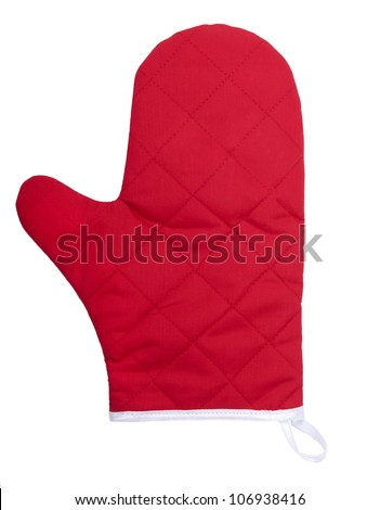 Kitchen glove isolated on white background