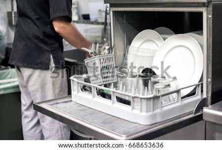 Restaurant Dishwasher Stock Images Royalty Free Images Vectors