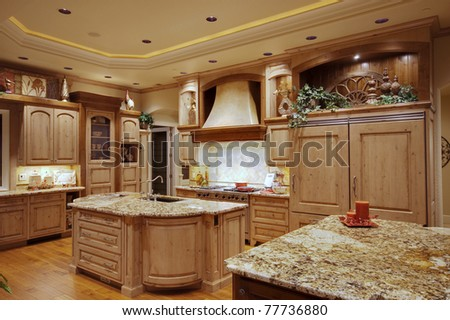 Kitchen in Luxury Home - stock photo