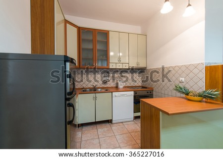Kitchen in modern home interior