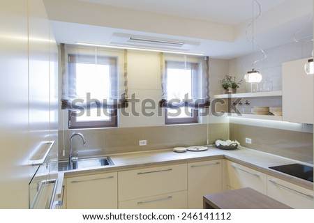Kitchen interior - stock photo