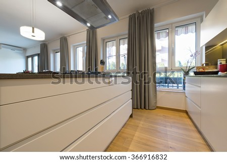 Kitchen interior, elements