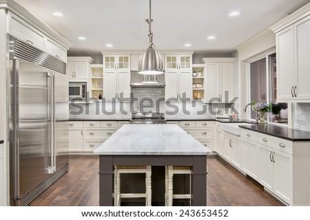 Genial Kitchen Interior In New Luxury Home