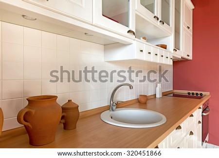Kitchen interior - Table top - stock photo