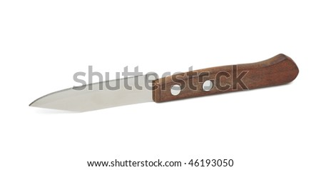 Kitchen knife, isolated on a white background