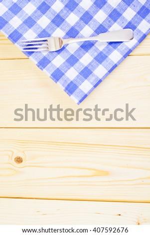 Kitchen Napkins Serving on Light Background. Studio Photo - stock photo