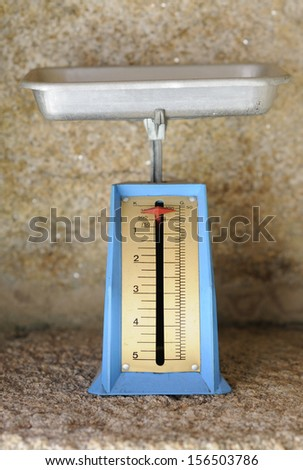 kitchen old scale - stock photo