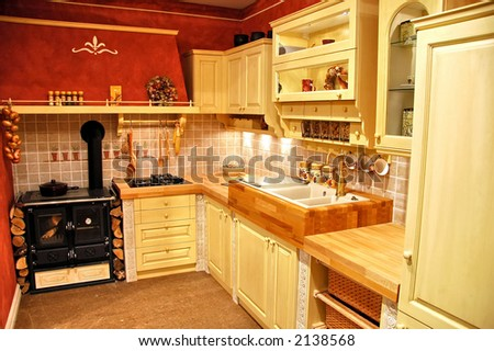 Kitchen on the farm - stock photo
