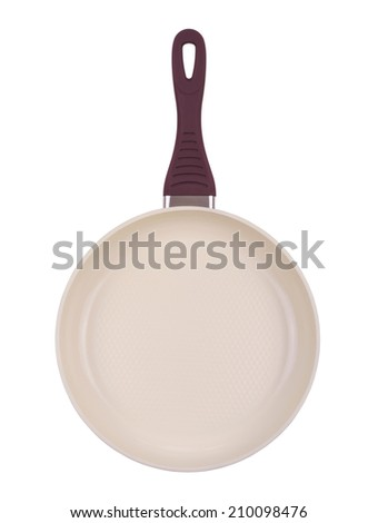 Kitchen pan, isolated on a white - stock photo
