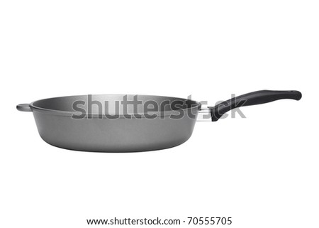 Kitchen pan isolated on white background - stock photo
