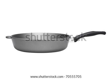 Kitchen pan isolated on white background - stock photo