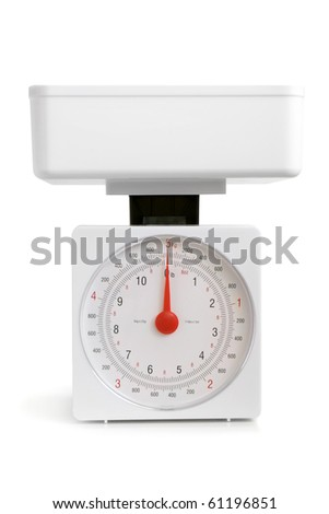 Kitchen scale on a white background
