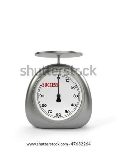 Kitchen scales for success measurement - stock photo