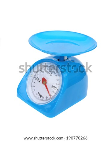 kitchen scales isolated on white background (700 gram)