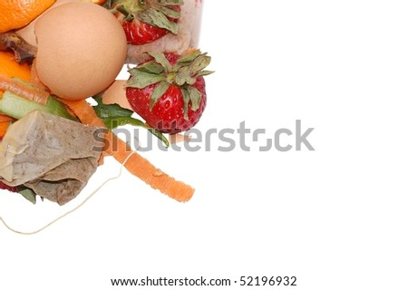 Kitchen Scraps for Compost - stock photo