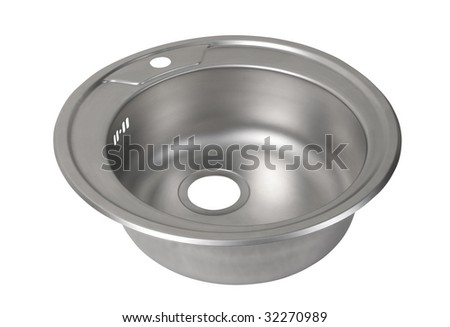 Kitchen sink. File includes clipping path - stock photo