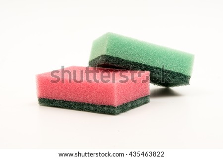 kitchen sponge isolated on white background