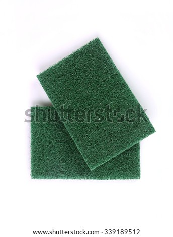 kitchen sponge on the white background