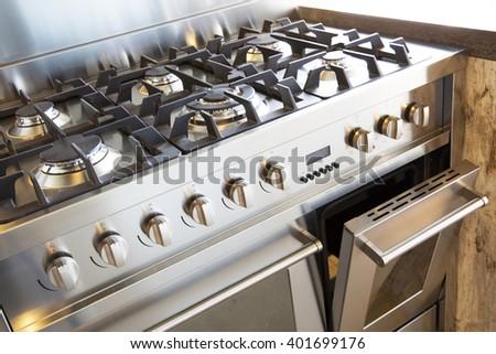 Kitchen store oven - stock photo