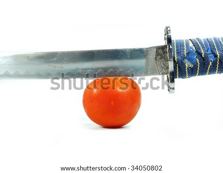 kitchen sword - stock photo