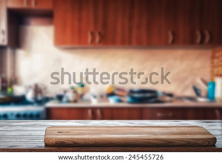 Kitchen table - stock photo