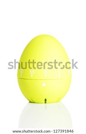 Kitchen timer isolated on white background - stock photo