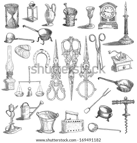 Kitchen tools set - stock photo