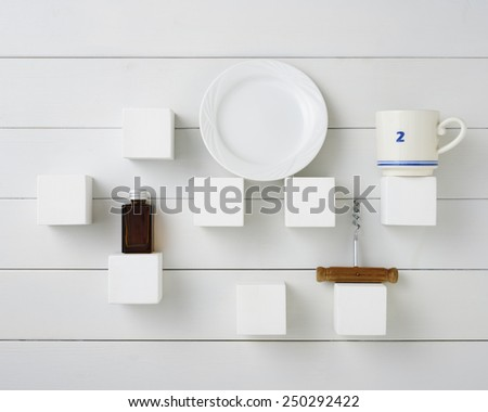 kitchen wall - stock photo