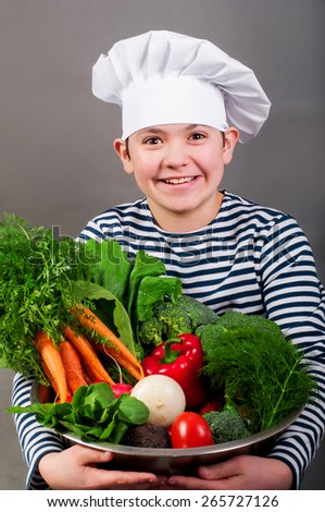 Kitchener with vegetables - stock photo