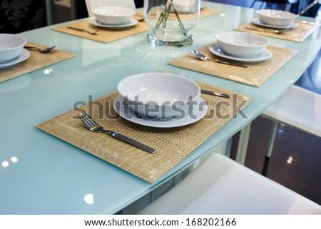 kitchenware in kitchen room - stock photo