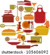 kitchenware set - stock vector