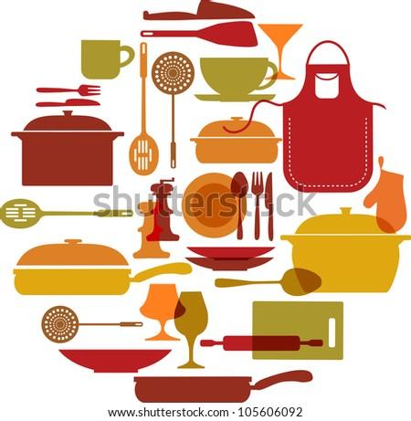 kitchenware set - stock photo