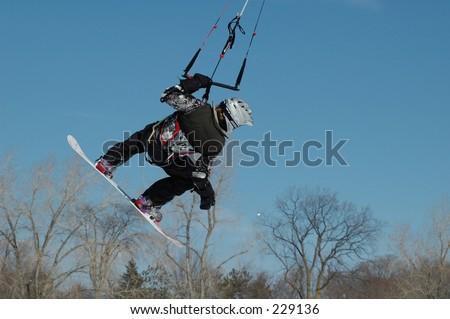 Kite boarding - stock photo