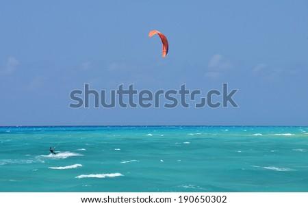Kite Boarding Mexico - stock photo