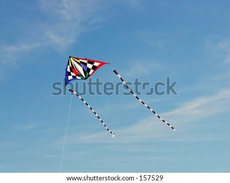 kite flying - stock photo