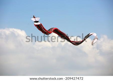 Kite flying in bali - stock photo